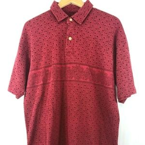 Vtg Men's Tommy Hilfiger Red Paisley Polo
